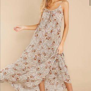 NWOT floral paisley maxi dress